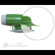Műanyag légszelep fogadó közvetlen csatlakoztatáshoz Ø125 mm