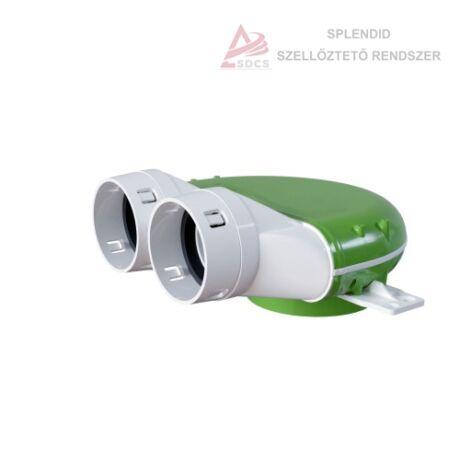 Műanyag légszelep fogadó Ø123 mm csőcsatlakozó hosszabító