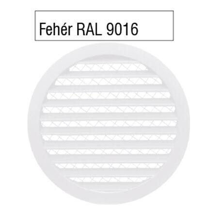 Alumínium rács biztonsági rovarhálóval FEHÉR RAL 9016 színben