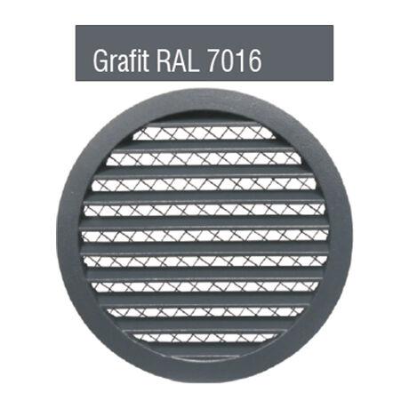 Alumínium rács biztonsági rovarhálóval GRAFIT RAL 7016 színben