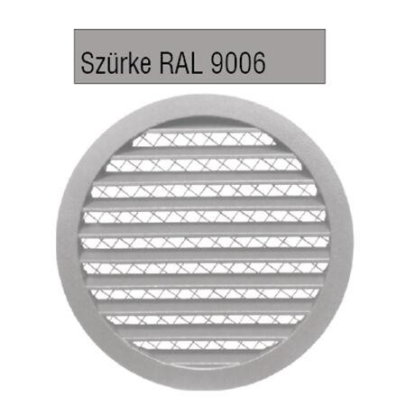Alumínium rács biztonsági rovarhálóval SZÜRKE RAL 9006 színben