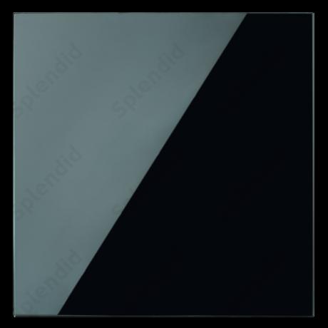 GLAS BLACK üveg ventilátor előlap
